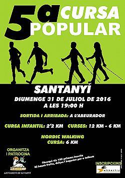 V Cursa Popular Santanyi 2016