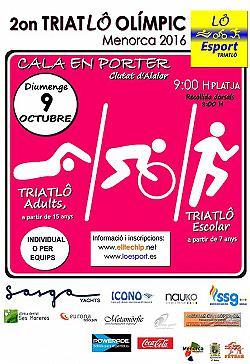 II Triatló Olímpic de Menorca 2016