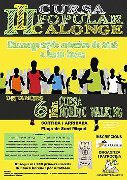 III Cursa Popular Calonge 2016