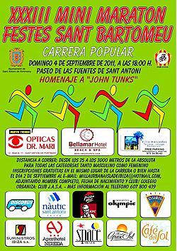 XXXIII Mini Maraton Festes de Sant Bartomeu 2011