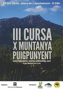 Cursa per muntanya de Puigpunyent 2018