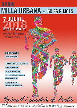 XXXIV Milla Urbana + 5Km Els Pujols 2018