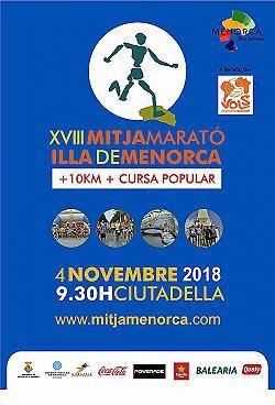 10 km i XVIII Mitja Marató de Menorca 2018