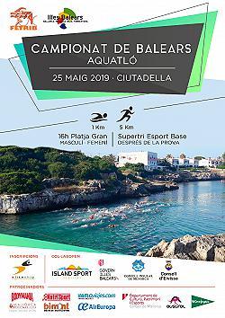 Campionat de Balears - Aquatló - Ciutadella 2019