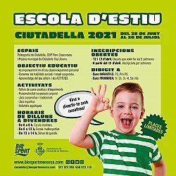 Escoles d'Estiu - Ciutadella 2021