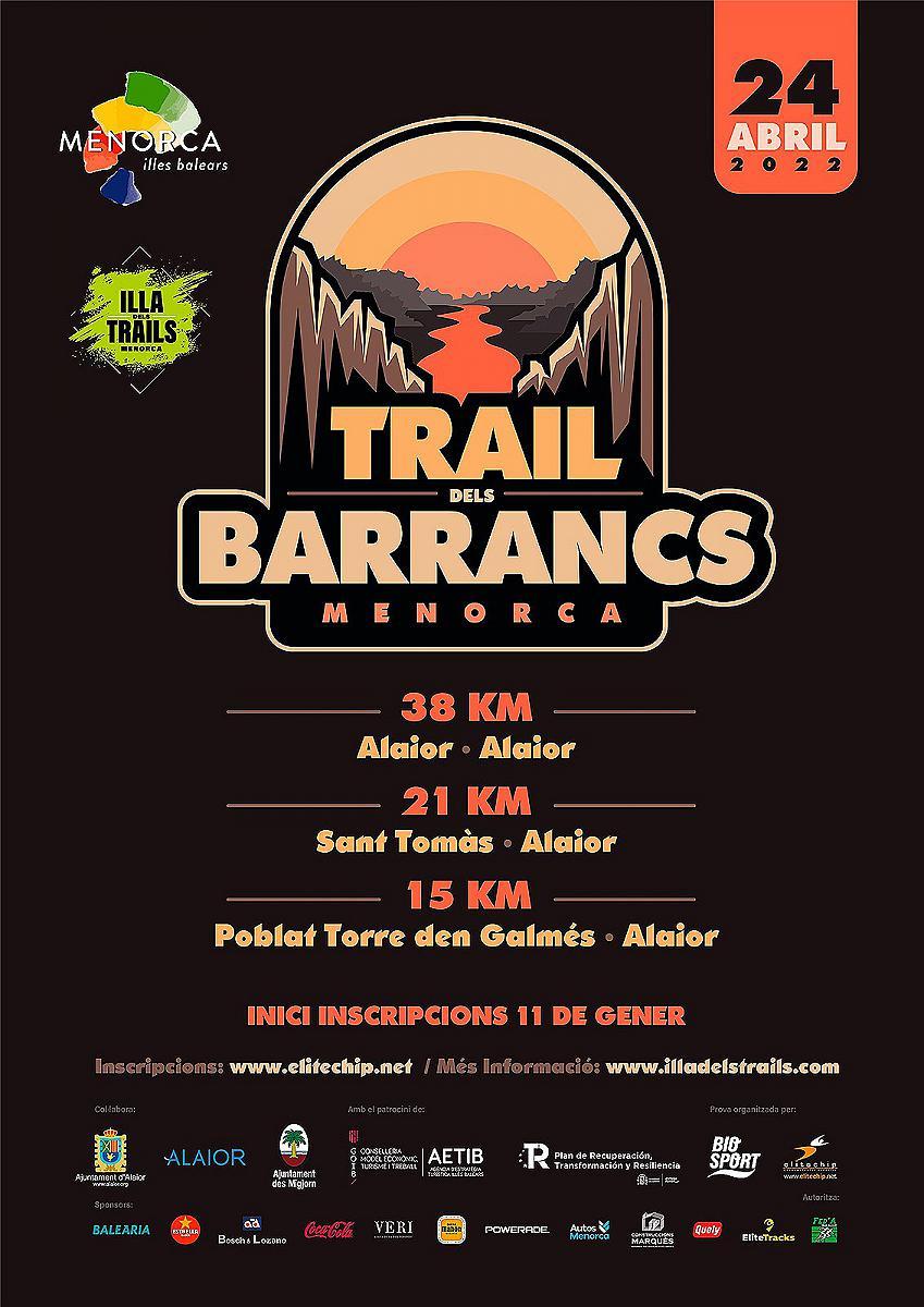 TRAIL DES BARRANCS EL 28 DE MARÇ