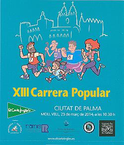 XIII Cursa popular Ciutat de Palma - Corte Ingles 2014
