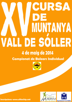 XV Cursa de Muntanya Vall de Soller 2014