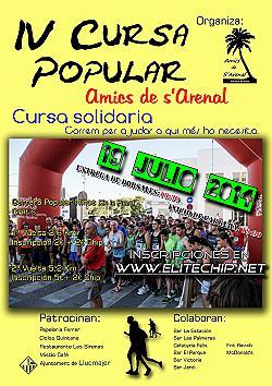 IV Cursa popular Amics de s'Arenal 2014